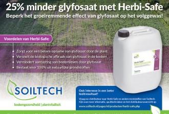 Minder glyfosaat nodig met Herbi-safe