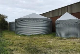 Regenwater silo, drainwater silo en dagvoorraad silo