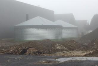 drainsilo en dagvoorraadsilo met daken